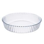 SATOSHI Форма для запекания жаропрочная круглая. стекло. 26.3х5.7см. рельефный бортик
