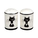MILLIMI Черный кот Набор для соли и перца. 4.7х6.6см. керамика