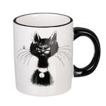 MILLIMI Черный кот Кружка 300мл. керамика