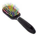 Расческа массажная с цветными зубчиками. 23.5х6см. #22