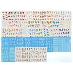 Наклейки для дизайна ногтей. 36-44 дизайна