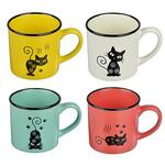 Черная кошка Кружка. 310мл. керамика. 4 цвета