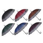 Зонт-трость женский. сплав. пластик. полиэстер. длина 65см. 16 спиц. 4-6 цветов.1377