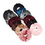 Резинка для волос с люрексом. d10см. полиэстер. 2 дизайна