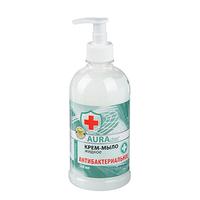 Крем-мыло жидкое AURA Антибактериальное . 500мл КК/ 8 07378/2629