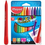 МЕЛ ЦВЕТНОЙ 12ШТ.'COLORPEPS PLASTICLEAN' MAPED 862011