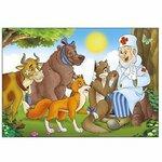 ПАЗЛЫ МЯГКИЕ А5 12 ДЕТАЛЕЙ ЛЮБИМАЯ СКАЗКА  П-9947