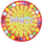 """Набор тарелок 10 шт бумаж с ламинац.18,5 см  Веселый праздник"""" 437-186"""""""