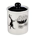 MILLIMI Черный кот Банка для сыпучих продуктов. 550мл. 10х13см. керамика