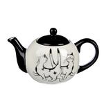 MILLIMI Черный кот Чайник заварочный 580мл. 18х11х11см. керамика
