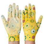 INBLOOM Перчатки садовые с нитриловым полуобливом. полиэстер. 9 размер. 23см. 31гр. цветные 25х15х5