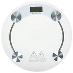 Весы напольные электрон.. ЖК-дисплей. макс. нагр.до 180кг. стекло. d33х0.8см