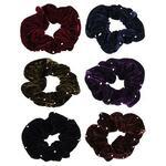 Резинка для волос бархат с камнями. d7см. полиэстер. 6 цветов. арт.203