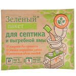Пакет зеленый для выгребных ям и септиков 111. 40гр. порошок