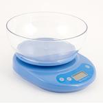 Весы кухонные электрон.. ЖК-дисплей. с пластиковой чашей 1л. нагрузка до 5кг. 3 цвета. арт.СХ-046
