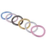 Набор резинок-спиралек. 6шт. 5.5см. пластик. 6 цветов. #17