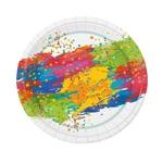 Тарелка d 230мм,дизайн Краски праздника,картон 6шт/уп 72уп/кор Мистерия Россия