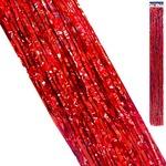 Дождик KWELT 9,5*145см голография красный K-06393
