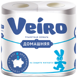 Бумага туалетная Veiro Домашняя, БЕЛЫЙ, 2-сл., арт. 1С24