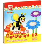 ПЛАСТИЛИН 12ЦВ.ЛУЧ КРОХА МЯГКИЙ 23С 1484-08
